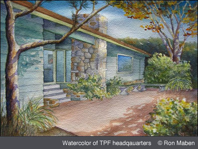 Ron Maben Watercolor of TFP headquarters