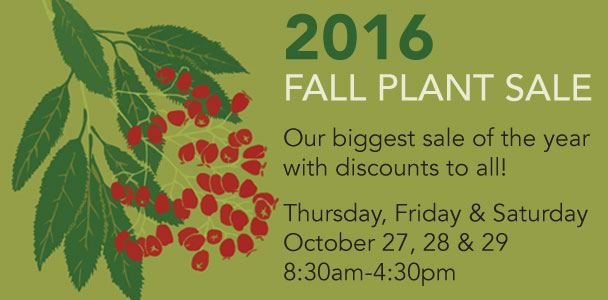 2016 Fall Plant Sale